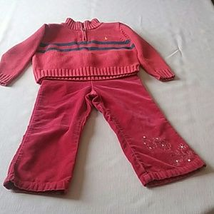 Pretty Girl's Red size 3 Sweater & Pants Set $20